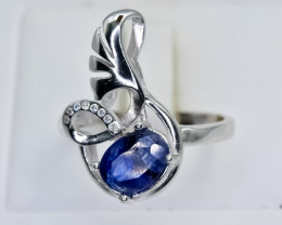 17.63 Crt Natural Sapphire 925 Sterling Silver Ring