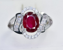 20.30 Crt Natural Ruby 925 Sterling Silver Ring