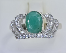 21.60 Crt Natural Emerald 925 Sterling Silver Ring