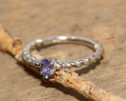 Natural Tanzanite 925 Silver Ring 449
