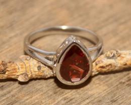 Natural Garnet 925 Silver Ring 485