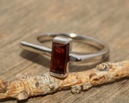 Natural Garnet 925 Silver Ring 403