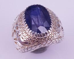 Natural Kyanite Sapphire Handmade Ring.