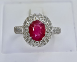 27.54 Crt Natural Composite Ruby 925 Silver Ring