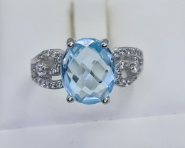 19.35 Crt Natural Topaz 925 Silver Ring