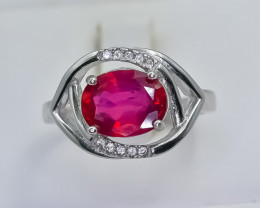 17.80 Crt Natural Composite Ruby 925 Silver Ring