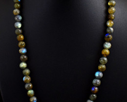 Labradorite Faceted  Beads Necklace