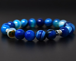 Onyx Beads stretchable Bracelet