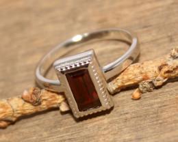 Natural Garnet 925 Silver Ring 455