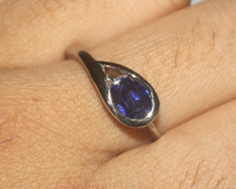 Natural Sapphire 925 Silver Ring 311