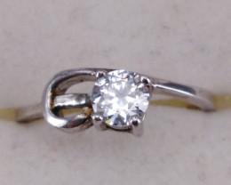 Cubic Zircon Silver Ring.