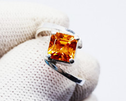 Natural Imperial Topaz Ring Handmade Sterling Silver