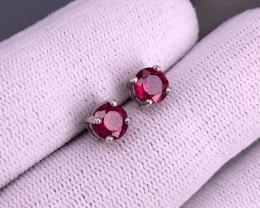 Ruby  925 Silver Earring/Stud