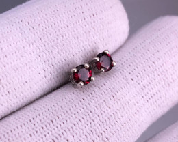 RED GARNET 925 Silver Stud/Earring by DANI Jewellery