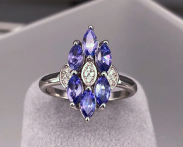 TANZANITE  925 Silver Ring  by DANI Jewellery