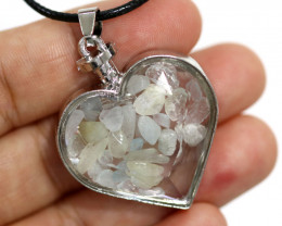 Lovers Heart Shape Natural Aquamarine  Gemstone Pendants AHA   297