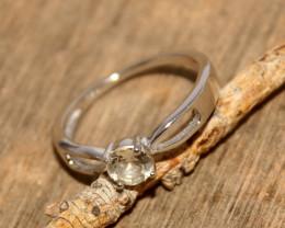Natural Aquamarine 925 Silver Ring 476