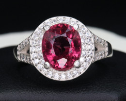 Natural Afghanistan Tourmaline, CZ and 925 Silver Ring Custom Design