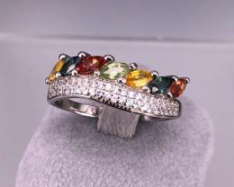 Multi SAPPHIRE 925 Silver Ring by DANI Jewellery