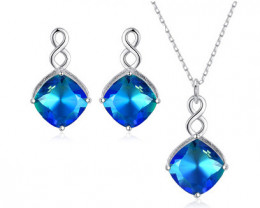 Silver 925 Quailty Classy Fashion Jewelry Set  code CCC 1635