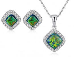 Silver 925 Quailty Classy Fashion Jewelry Set  code CCC 1637
