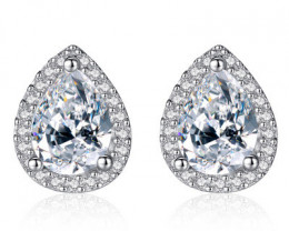 Silver 925 Quailty Classy Fashion Earrings  code CCC 1673