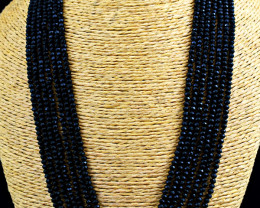 7 Line  Faceted Spinel  Beads Necklace