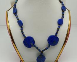 Natural Blue Lapis Lazuli Neclace