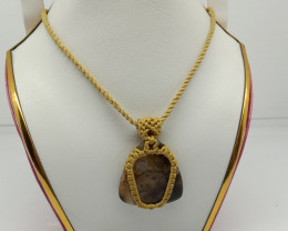 Natural Agate Boho And Hippie Neclace