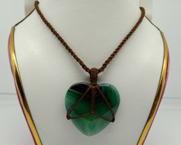 Natural Green Lake Superior Agate Neclace