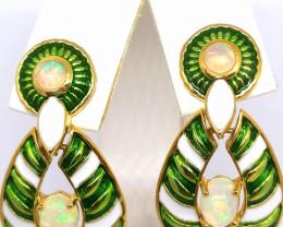Welo Opal Drop Earrings 1.50tcw.