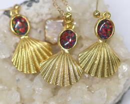 Australian Sea Collection Baroque Pearl & Opal Shell Set CCC 1754