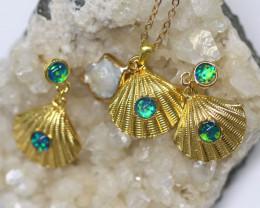 Australian Sea Collection Baroque Pearl & Opal Shell Set CCC 1760