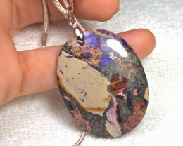 90.5 Carat Purple Sea Sediment Jasper Pendant Necklace - Gorgeous