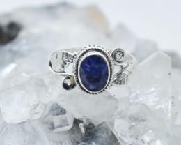 BLUE SAPPHIRE RING 925 STERLING SILVER NATURAL GEMSTONE JR1085