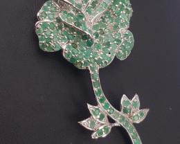 Natural Emerald Brooche