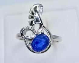 17.68 Crt Natural Composite Sapphire 925 Silver Ring