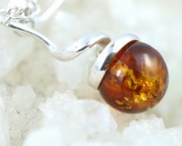 Natural Baltic Amber Sterling Silver Pendant code GI 1081