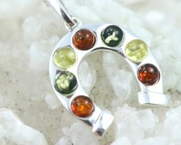 Natural Baltic Amber Sterling Silver Pendant code GI 1085
