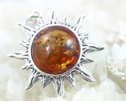 Natural Baltic Amber Sterling Silver Pendant code GI 1101