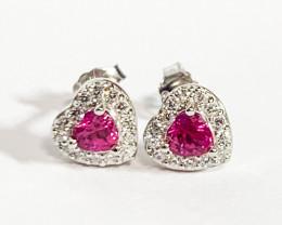 Heart Shape Earring Silver 925
