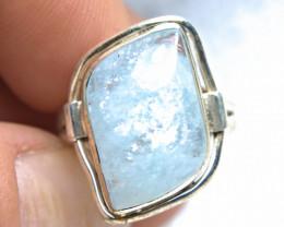 30.0 Carat Aquamarine / Sterling Silver Ring - Fancy