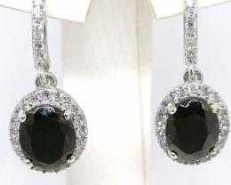 Elite Shungite and Zircon Earrings 5.90tcw.