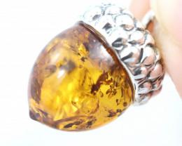 Natural Baltic Amber Sterling Silver Pendant code GI 1179