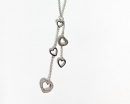 Modern  Style Sterling Silver 925 Necklace