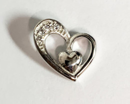 Heart-in-Heart Pendent 925 Silver