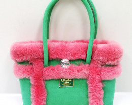 SHEEPSKIN HANDBAG #GREEN