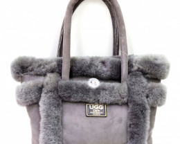 SHEEPSKIN HANDBAG #GRAY