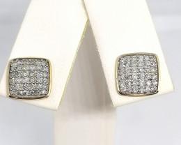 SOLID GOLD - CERTIFIED Diamond Earrings 0.50tcw.