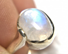 30.5 Carat Moonstone Sterling Silver Ring - Gorgeous